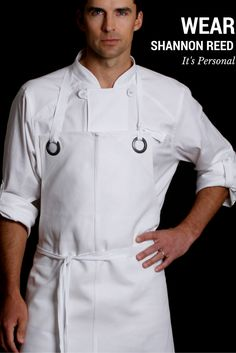 Functional ✔️ Fit ✔️ Fashion Forward ✔️ Solving Insufficient chef wear problems one Utility Chic design at a time Shop Shannon Reed Designer Chef Aprons Now! Custom Aprons for Men & Women Restaurant Aprons, Restaurant Uniforms, Cool Aprons, Aprons For Men, Cafe Uniform, Leather Apron, Custom Aprons, Chef Apron, Apron Designs