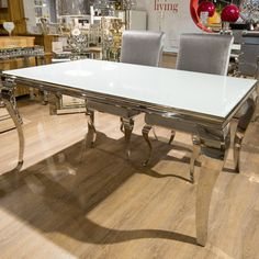 louis-rectangular-white-glass-and-stainless-steel-dining-table-200cm-60826-p.jpg (900×900)