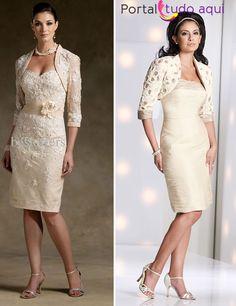 Vestido de noiva para jovens senhoras e senhoras com mais idade
