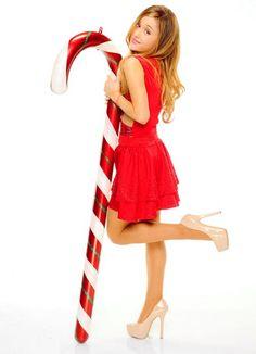 Ariana Grande et sucre d'orge géant