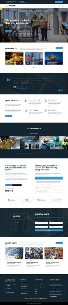 Industrial is clean and modern design 6in1 responsive bootstrap HTML #theme for #industry, factory and #engineering company #website to live preview & download click on image or Visit 👆