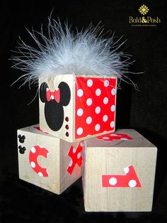Minnie Mouse Wooden Blocks-I want these for my room