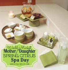 Mother/Daughter spring citrus DIY spa day