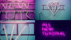 Neon Sign -- Cinema 4D Breakdown / Tutorial. A breakdown of the steps taken to create a neon sign in Cinema 4D and composite in After Effect...