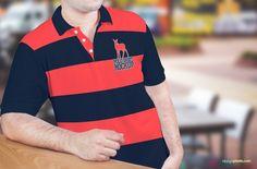 Men's Polo T-Shirt Mockup PSD - free polo t-shirt psd mockup - free polo shirt mockup psd - free clothing mockup psd - polo shirt psd for man