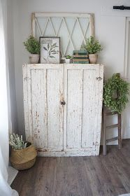 Perfecting the Homefront: Chippy Farmhouse Cabinet