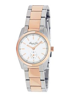 Kenneth Cole Rose Gold & Stainless Steel Watch