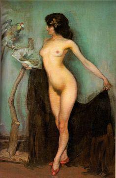 Gitana de Oro o El Desnudo de Papagayo, 1906 by Ignacio Zuloaga (1870-1945)