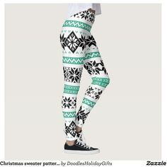 Christmas sweater pattern Holiday leggings ($66) ❤ liked on Polyvore featuring pants, leggings, print pants, holiday print leggings, evening pants, patterned trousers and print leggings
