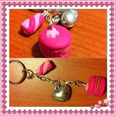 Macaroons polymer clay keychain