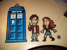 Dr Who 11th Doctor and companion set Hama Perler beads. £18.00, via Etsy.