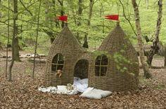 """Wicker playhouse. Wanties!  """"Dreaming Spires"""" by Judith Needham."""