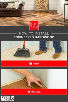 How to install engineered hardwood with help from Floor & Decor Engineered Hardwood Flooring, Hardwood Floors, Wood Stone, Floor Decor, Entryway Tables, House Design, Interior Design, Tips, Home Decor