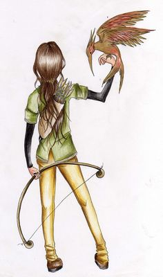 The hunger Games: Art: Sketch: Drawing: Katniss everdeen: Katniss: Hunger Games by GermanyKai.deviantart.com on @deviantART