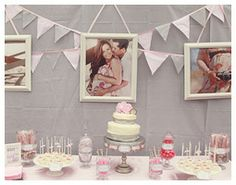 Pink & Gray Baby Shower