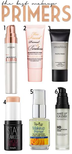 A great list of the best makeup primers! #beauty #makeup