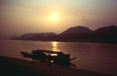 Abendstimmung Mekong