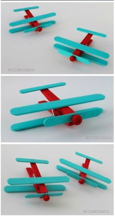 Clothes pins: 10 easy-to-make DIY - Best Pins Popsicle Stick Crafts, Craft Stick Crafts, Fun Crafts, Toddler Crafts, Toddler Activities, Projects For Kids, Diy For Kids, Dragon Fly Craft, Airplane Crafts