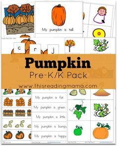 Pumpkin Pre-K-K Pack from This Reading Mama