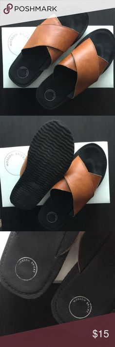 fdbc3ab89f92f Mosson Brick Cross Slide Sandals Great condition. Little wear on top and  bottom. Comes