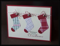 Christmas stockings with scoring by TrishG - Cards and Paper Crafts at Splitcoaststampers