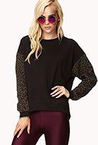 Leopard Sleeve Sweatshirt