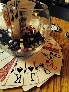 Casino theme parties, casino night party, casino royale theme, las ve Casino Themed Centerpieces, Casino Party Decorations, Casino Party Foods, Casino Night Party, Casino Theme Parties, Party Themes, Vegas Party, Party Ideas, Vegas Theme