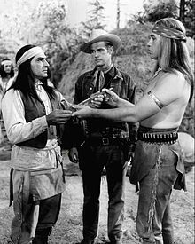 "Broken Arrow 1956-1958 tv series.  Michael Ansara (who was married to Barbara Eden) played Indian ""Cochise"" and John Lupton as Tom Jeffords."