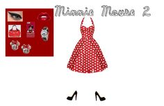 """Minnie Mouse 2"" by ellalynnaireruth ❤ liked on Polyvore featuring Christian Louboutin, LORAC and Disney"