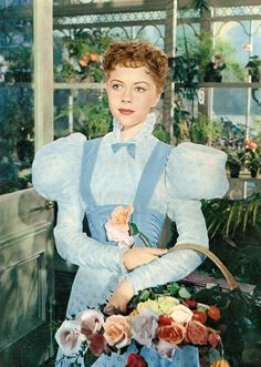 Dorothy Tutin as Cecily Cardew from Movie of ' The Importance of Being Earnest'(1952) . Director Anthony Asquith