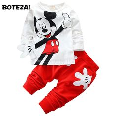 Boys&Girls Cotton Spring sport suit Kids Mickey Minnie Clothing set Kids fashion clothes baby boys&Girls cartoon set - Kid Shop Global - Kids & Baby Shop Online - baby & kids clothing, toys for baby & kid Kids Clothes Boys, Toddler Boy Outfits, Kids Outfits, Children Clothing, Clothing Sets, Girl Clothing, Fashion Kids, Fashion Outfits, Fashion Clothes