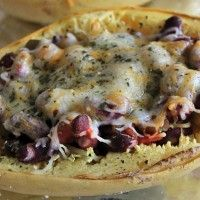 Black, I mean, Kidney Bean Spaghetti Squash Boats