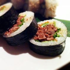 Kobe beef roll at Sushi Den