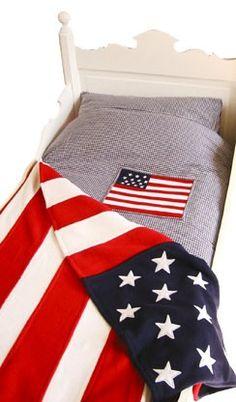 Taftan Amerikaanse vlag fleece sprei - IKenIK.nl