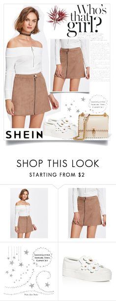 """""""shein skirt"""" by almedina-mehic ❤ liked on Polyvore featuring Marc Jacobs and Fendi"""