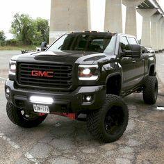 21 ideas for all black truck lifted chevy Gmc Trucks, Diesel Trucks, Jacked Up Trucks, Jeep Truck, Pickup Trucks, Dodge Diesel, Pickup Camper, Cummins Diesel, Jeep Pickup