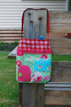 Little House Tote Bag for Kids with Bird applique by oKIDDo, $22.50... All of these are cute. To put Beans toys in when you take her out or something. OR a little overnight bag when she comes to stay with aunt Blonf :)