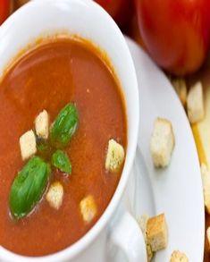 Soupe d'aubergine tomatée à l'ail pour 4 personnes - Recettes Elle à Table Winter Food, Thai Red Curry, Feta, Soup Recipes, Nutrition, Cooking, Ethnic Recipes, Desserts, Beverages