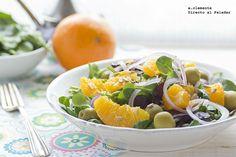 Ensalada de naranjas con aceitunas y cebolla morada