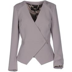 Elisabetta Franchi 24 Ore Blazer (800 BRL) ❤ liked on Polyvore featuring outerwear, jackets, blazers, sand, blazer jacket, logo jackets, purple blazer, double breasted jacket and elisabetta franchi
