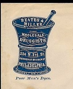 Figural ephemera druggist Philadelphia