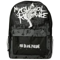 My Chemical Romance The Black Parade Backpack | Hot Topic ($24) ❤ liked on Polyvore featuring bags, backpacks, backpack, canvas rucksack, black canvas backpack, canvas bag, canvas knapsack and black rucksack