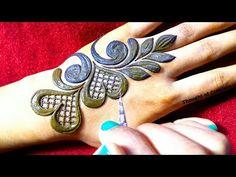Rose Mehndi Designs, Finger Henna Designs, Beginner Henna Designs, Full Hand Mehndi Designs, Modern Mehndi Designs, Mehndi Designs For Girls, Mehndi Design Images, Dulhan Mehndi Designs, Henna Tattoo Designs