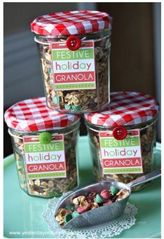 Make Festive Holiday Granola with the recipe and free printable from Yesterday on Tuesday.