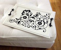 Cool idea for a beautiful serving tray