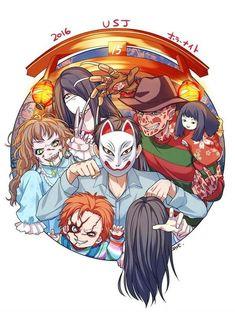 Chucky Horror Movie, Horror Movie Characters, Horror Icons, Horror Films, Slasher Movies, Horror Artwork, Halloween, Creepy Art, Fan Art