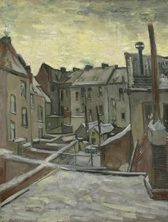 Houses Seen from the Back, 1885 - 1886, Vincent van Gogh, Van Gogh Museum, Amsterdam (Vincent van Gogh Foundation)
