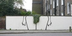 Bush by Banksy. Doesn't look particularly Banksy Street Art Banksy, Banksy Work, Banksy Graffiti, Famous Graffiti Artists, Famous Street Artists, Street Art London, Bansky, Galerie D'art, Urban Art