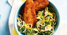 Honey soy chicken made even better with curly zoodle noodles.