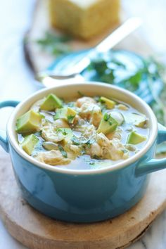 5-Ingredient White Chicken Chili - This comforting chili is so easy to whip up with just 5 ingredients - perfect for a chilly evening!